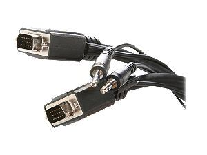 Rosewill 15 ft. VGA / SVGA Male to Male Cable w/ 3.5mm Stereo Audio Cable Model RCW H9023