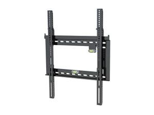 Level Mount DC65ADLP Matte Black Powder Coat Finish Fixed Flat Panel Wall Mount  TV Bracket