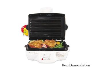 Hamilton Beach 25285H White Indoor Grill with Removable Grids