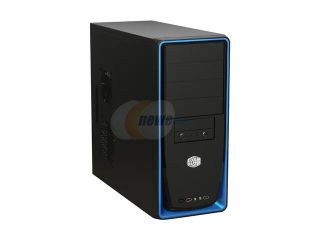 COOLER MASTER Elite 310 RC 310 BKR2 GP Black with blue front panel Steel Body / ABS plastic front bezel ATX Mid Tower Computer Case 420W Power Supply