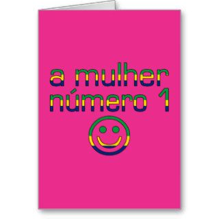 A Mulher Número 1   Number 1 Wife in Brazilian Greeting Card