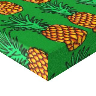 Pineapple Wallpaper Gallery Wrapped Canvas