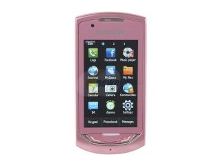 """Samsung Monte S5620 Pink Unlocked GSM Touch Screen Phone w/ 3.15 MP Camera / GPS / 3"""" Touch Screen"""