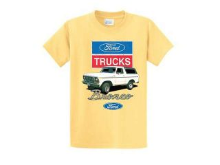 Ford Truck Bronco 4X4 Classic T Shirt White Large