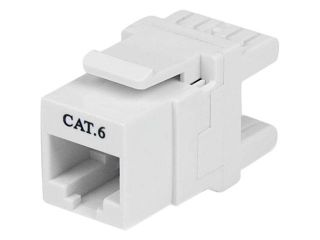 StarTech 180? Cat 6 Keystone Jack   RJ45 Ethernet Cat6 Wall Jack White   110 Type