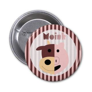 Cute cartoon cow + pig = Moink pin