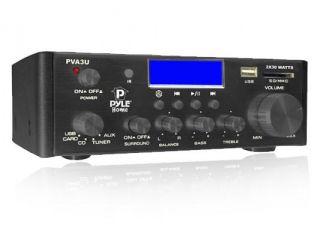 New Pyle PVA3U 60 Watt Mini Home Stereo Power Amplifier