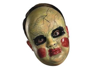 Creepy Clown Baby Doll Face Adult Halloween Costume Mask