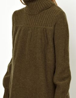 Madeleine Thompson  Vestido con acabado en lana de cachemir y cuello alto Lilly de Madeleine Thompson en