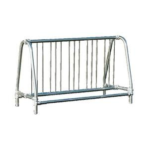 Ultra Play 5 ft. Galvanized Commercial Park Traditional Double Sided Portable Bike Rack 5905P