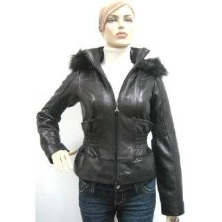 Baby Phat Reversible Leather Jacket Coat, Black, XLarge