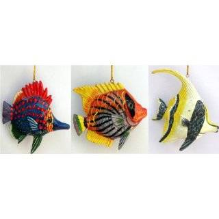 Set of 6 Tropical Fish Decor or Christmas Ornament New